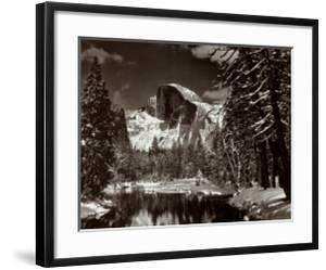 Half Dome, Merced River, Winter by Ansel Adams