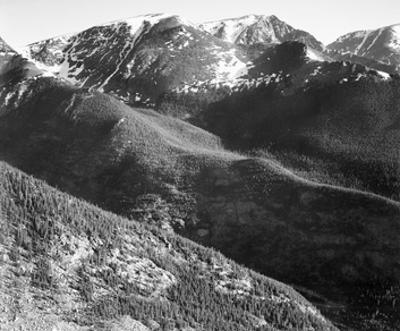 Hills and mountains, in Rocky Mountain National Park, Colorado, ca. 1941-1942