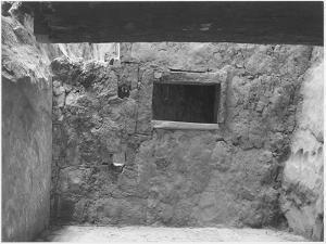 "Interior Showing Wall & Window ""Interior At Ruin Cliff Palace Mesa Verde NP"" Colorado ""1941."" 1941 by Ansel Adams"