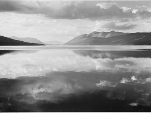 "Lake And Mountains ""McDonald Lake Glacier National Park"" Montana. 1933-1942 by Ansel Adams"