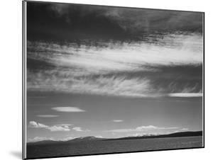 "Lake Narrow Strip Of Mts Low Horizon ""Yellowstone Lake Yellowstone NP"" Wyoming 1933-1942 by Ansel Adams"