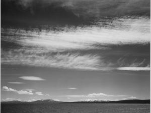 "Lake Narrow Strip Of Mts Low Horizon ""Yellowstone Lake Yellowstone NP"" Wyoming 1933-1942 by Ansel Adams"