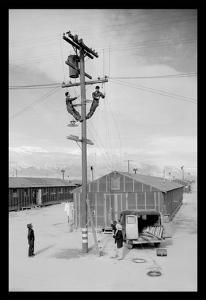 Line Crew at Work in Manzanar by Ansel Adams
