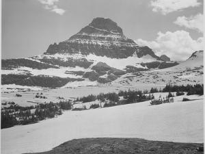 Looking Across Barren Land To Mountains From Logan Pass Glacier National Park Montana. 1933-1942 by Ansel Adams