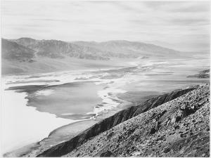 "Looking Across Desert Toward Mountains ""Death Valley National Monument"" California. 1933-1942 by Ansel Adams"