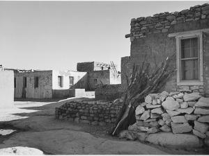 """Looking Across Street Toward Houses """"Acoma Pueblo. [NHL New Mexico]"""" 1933-1942 by Ansel Adams"""