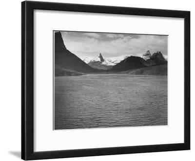 """Looking Across Toward Snow-Capped Mts Lake In Fgnd """"St. Mary's Lake Glacier NP"""" Montana. 1933-1942"""