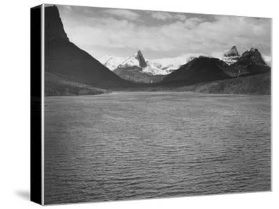 "Looking Across Toward Snow-Capped Mts Lake In Fgnd ""St. Mary's Lake Glacier NP"" Montana. 1933-1942"