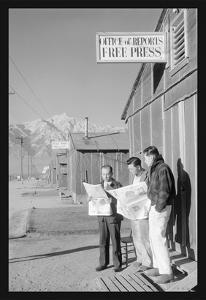 Manzanar Free Press by Ansel Adams