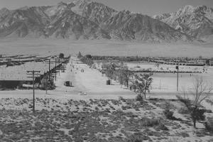 Manzanar Relocation Center from Tower by Ansel Adams