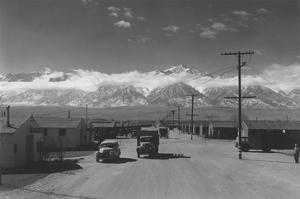 Manzanar Street Scene, Spring by Ansel Adams