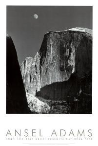 Moon and Half Dome, Yosemite National Park, 1960 by Ansel Adams