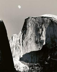Moon and Half Dome by Ansel Adams