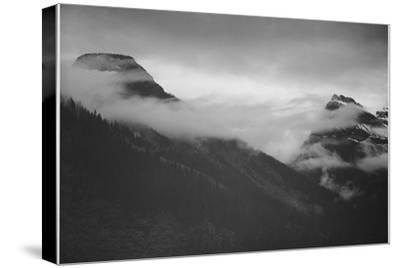 "Mountain Partially Covered With Clouds ""In Glacier National Park"" Montana. 1933-1942"