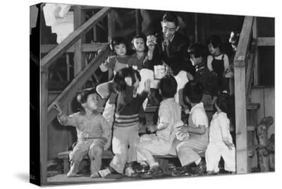 Mr. Matsumoto and Group of Children