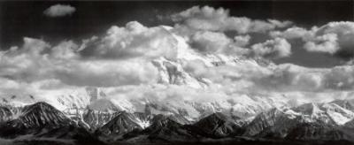 Mt. McKinley Range, Clouds, Denali National Park, Alaska, 1948