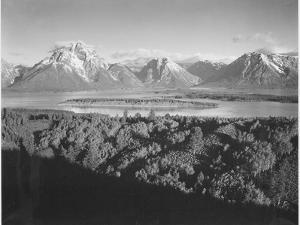 "Mt. Moran And Jackson Lake From Signal Hill Grand ""Teton NP"" Wyoming. 1933-1942 by Ansel Adams"