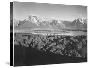 "Mt. Moran And Jackson Lake From Signal Hill Grand ""Teton NP"" Wyoming. 1933-1942 by Ansel Adams"