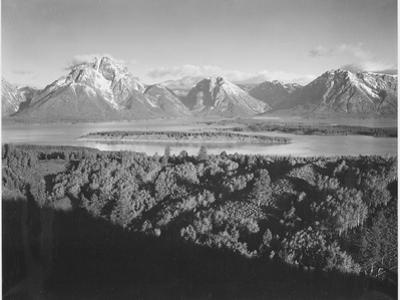 "Mt. Moran And Jackson Lake From Signal Hill Grand ""Teton NP"" Wyoming. 1933-1942"