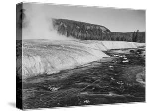 """River In Foreground Trees Behind """"Firehole River Yellowstone National Park"""" Wyoming by Ansel Adams"""