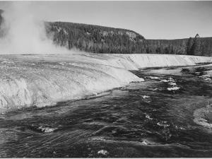 "River In Foreground Trees Behind ""Firehole River Yellowstone National Park"" Wyoming by Ansel Adams"