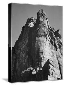 """Rock Formation From Below """"In Zion National Park"""" Utah.  1933-1942 by Ansel Adams"""