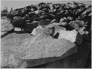 "Rock Formation ""Moraine Rocky Mountain National Park"" Colorado 1933-1942 by Ansel Adams"