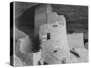 """Section Of House """"Cliff Palace Mesa Verde National Park"""" Colorado 1941. 1941 by Ansel Adams"""