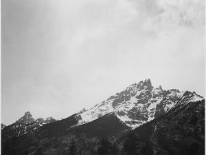 """Snow Covered Peak """"In [Grand] Teton National Park"""" Wyoming, Geology, Geological. 1933-1942 by Ansel Adams"""