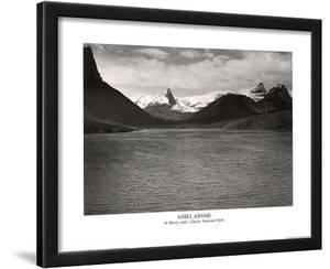 Ansel Adams St. Mary's Lake Glacier National Park Print Poster