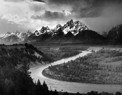 Tetons and The Snake River, Grand Teton National Park, c.1942