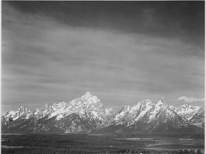 Tetons From Signal Mt View Valley & Snow-Capped Mts Low Horizons Grand Teton NP Wyoming 1933-1942 by Ansel Adams