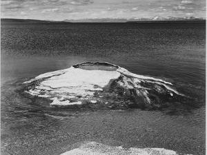 The Fishing Cone-Yellowstone Lake Yellowstone National Park Wyoming. 1933-1942 by Ansel Adams