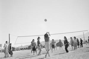 The Volley Ball Game by Ansel Adams