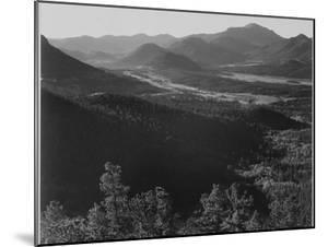 """Valley Surrounded By Mountains """"In Rocky Mountain National Park """"Colorado. 1933-1942 by Ansel Adams"""