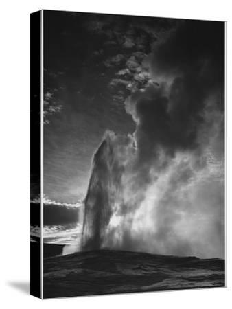 "Various Angles During Eruption. ""Old Faithful Geyser Yellowstone National Park"" Wyoming  1933-1942"