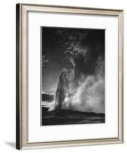 "Various Angles During Eruption. ""Old Faithful Geyser Yellowstone National Park"" Wyoming  1933-1942 by Ansel Adams"