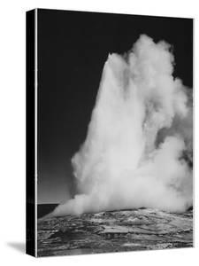 """Various Angles During Eruption. """"Old Faithful Geyser Yellowstone National Park"""" Wyoming  1933-1942 by Ansel Adams"""