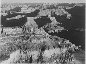 "View Dark Shadows To Right High Horizon ""Grand Canyon National Park"" Arizona. 1933-1942 by Ansel Adams"