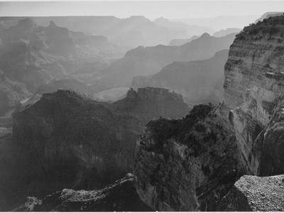 "View Down ""Grand Canyon National Park"" Arizona 1933-1942 by Ansel Adams"