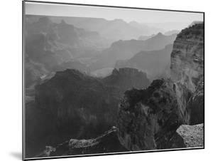 "View Down ""Grand Canyon National Park"" Arizona 1933-1942 by Ansel Adams"