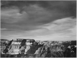 """View From The North Rim """"Grand Canyon National Park"""" Arizona. 1933-1942 by Ansel Adams"""