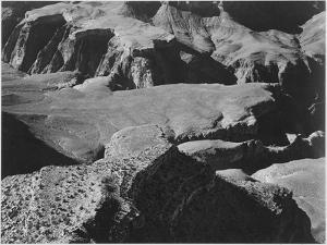 """View From Yava Point Rock Formations And Valley """"Grand Canyon National Park"""" Arizona. 1933-1942 by Ansel Adams"""