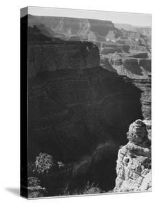 View Of Darkly Shadowed Canyon At Left & Center From South Rim 1941 Grand Canyon NP Arizona  1941 by Ansel Adams