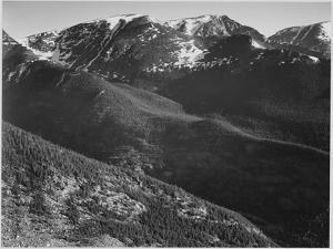 "View Of Hills And Mountains ""In Rocky Mountain National Park"" Colorado 1933-1942 by Ansel Adams"