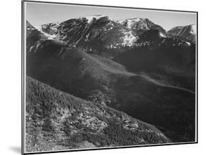 """View Of Hills And Mountains """"In Rocky Mountain National Park"""" Colorado 1933-1942 by Ansel Adams"""
