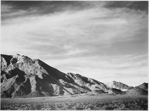 "View Of Mountains ""Near Death Valley"" California 1933-1942 by Ansel Adams"