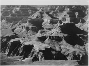 """View Of Rock Formations """"Grand Canyon National Park"""" Arizona. 1933-1942 by Ansel Adams"""