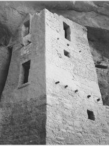 "View Of Tower Taken From Above ""Cliff Palace Mesa Verde National Park"" Colorado 1933-1941 by Ansel Adams"