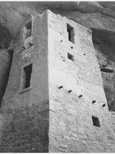 """View Of Tower Taken From Above """"Cliff Palace Mesa Verde National Park"""" Colorado 1933-1941 by Ansel Adams"""